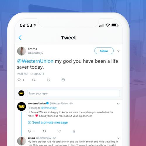 Western Union Community Management Twitter